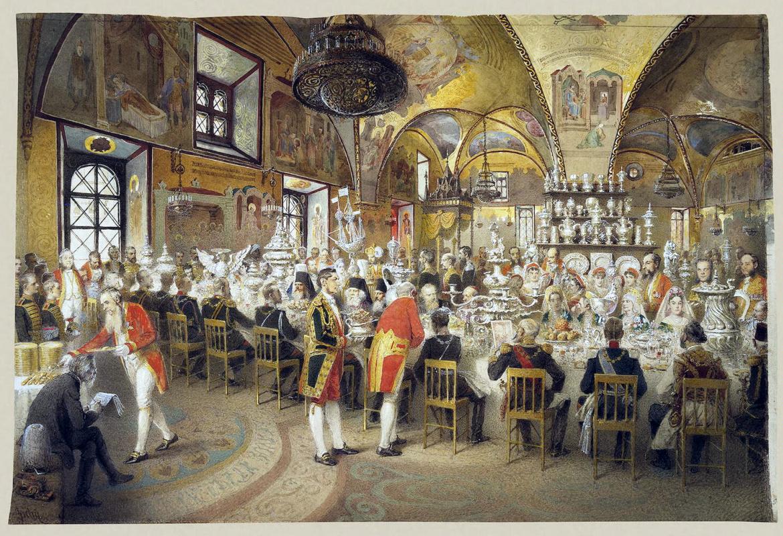 Михай Зичи. Торжественный обед в Грановитой палате