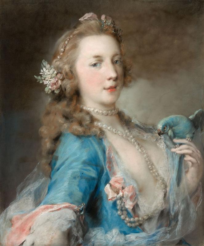 Розальба Каррьера (Каррера). Девушка с попугаем