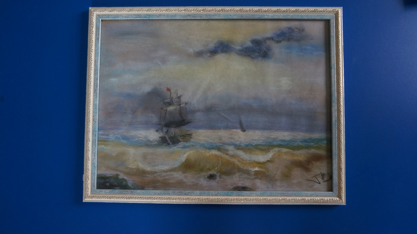 "Unknown artist. Free copy ""Ship near the shore"""