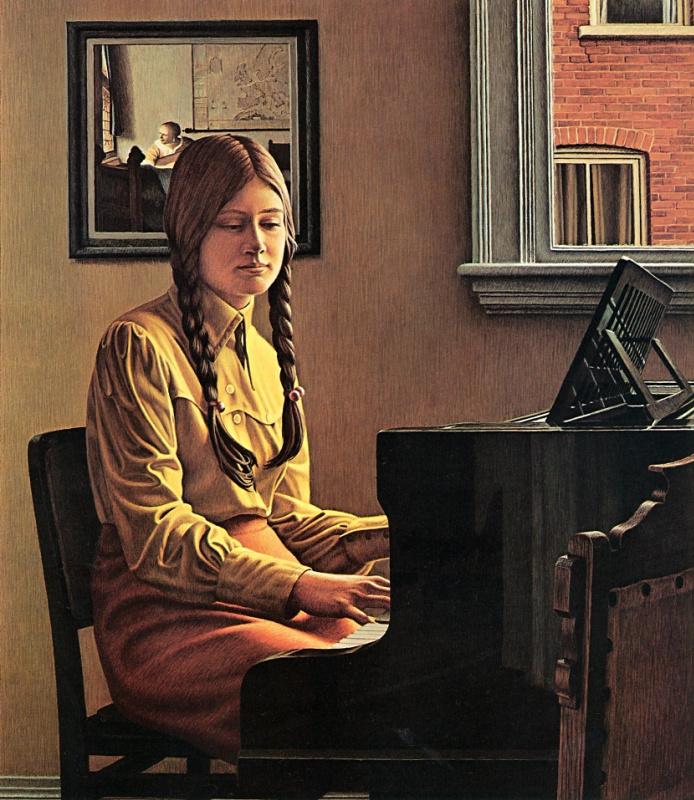 На фортепиано