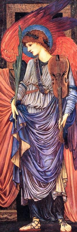Edward Coley Burne-Jones. Musical angel