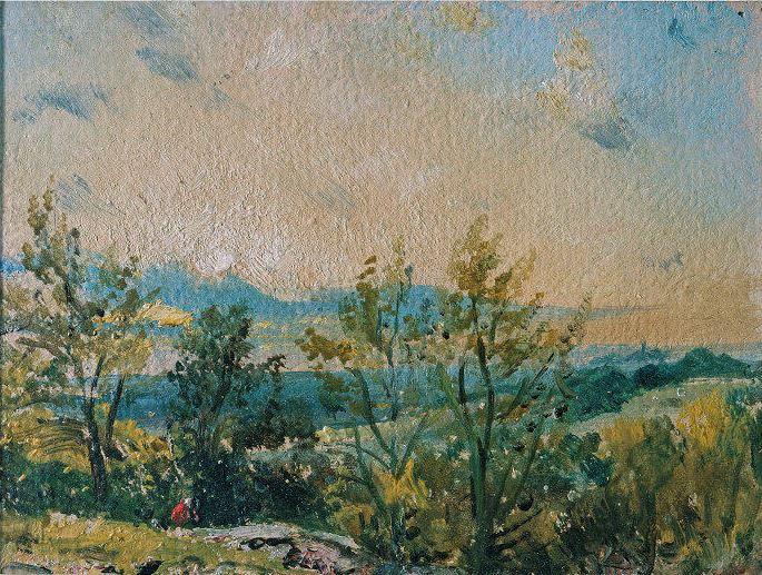 John Constable. Sunset in Hampstead. Sketch