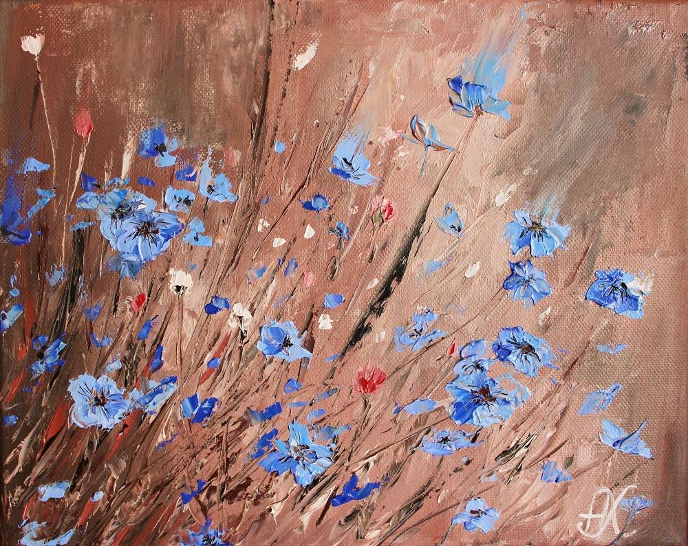 """Natalia Kharitonova. """"Blue flowers"""""""