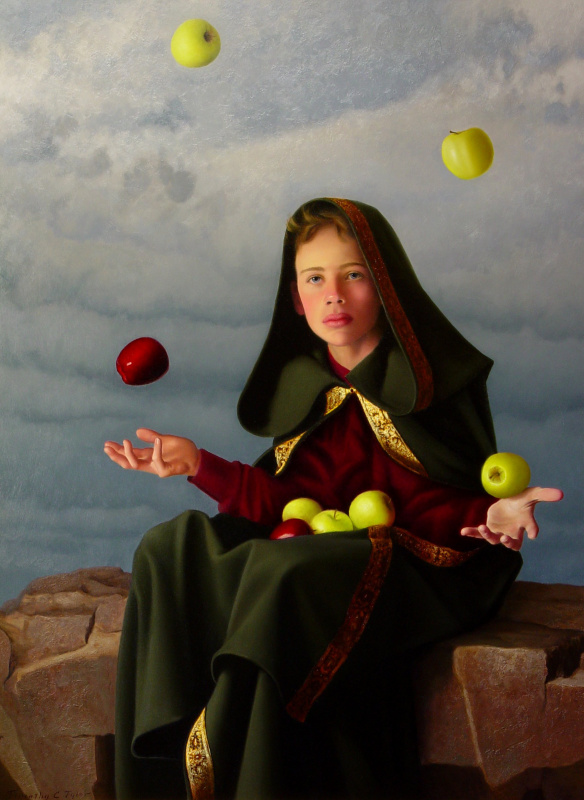 Тим Тайлер. Жонглирование яблоками