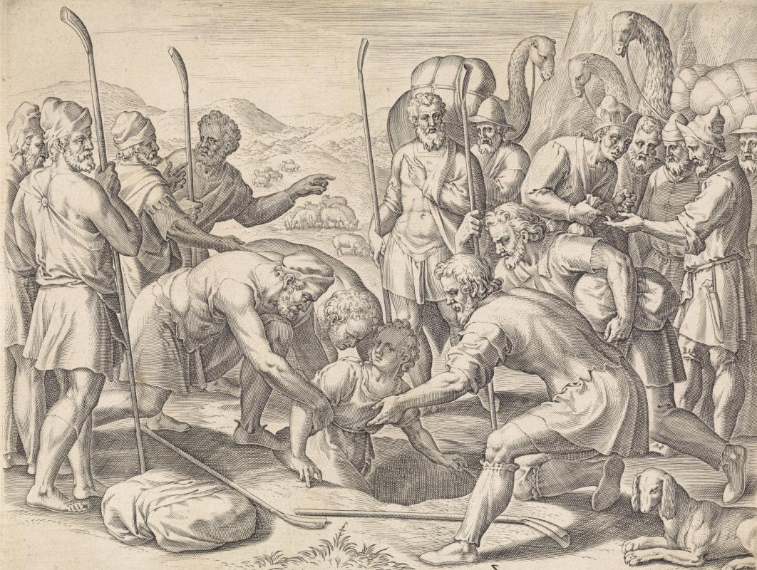 Aegidius Sadeler. Brothers sell Joseph into slavery