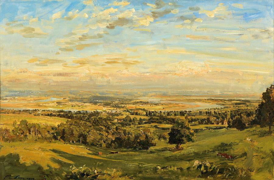 Philip Wilson Stear. Bend of the river Severn in Littledene