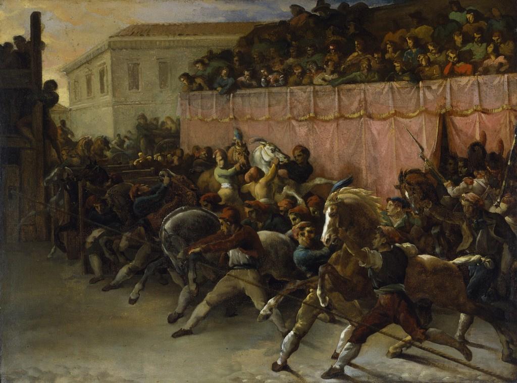 Теодор Жерико. Скачки лошадей в Риме