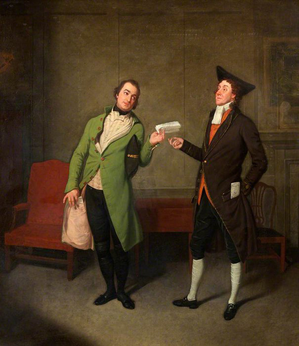 Samuel De Wilde. Bannister and Suett in George Coleman the Younger''s 'Sylvester Daggerwood'