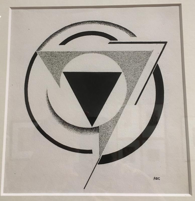 Антонина Федоровна Софронова. Конструктивная композиция - треугольники и круги