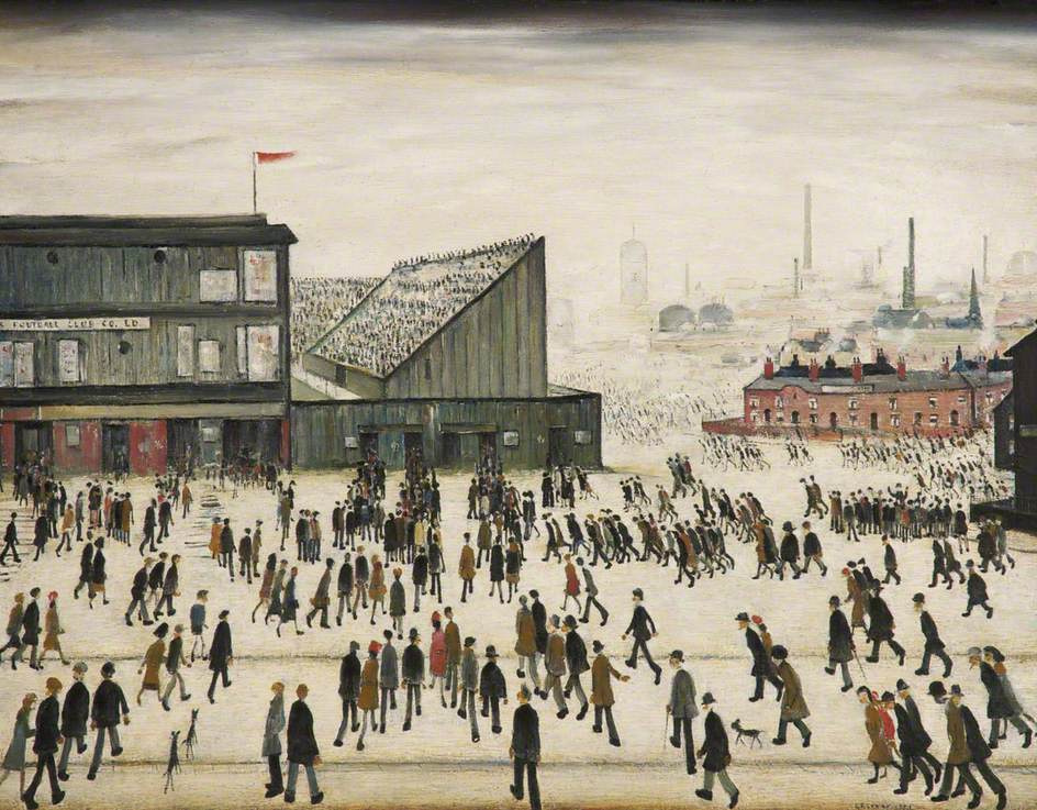 Lawrence Stephen Lowry. March to the match
