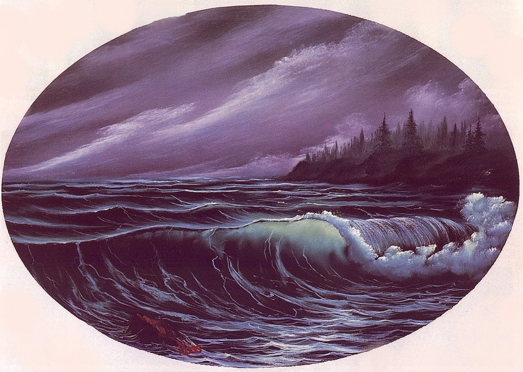 Bob Ross. Wave