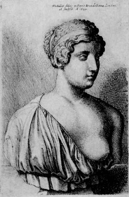 Венцель Холлар. Античный женский бюст