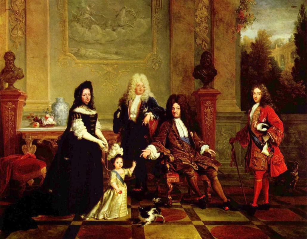 Никола де Ларжильер. Портрет Людовика XIV и его наследников