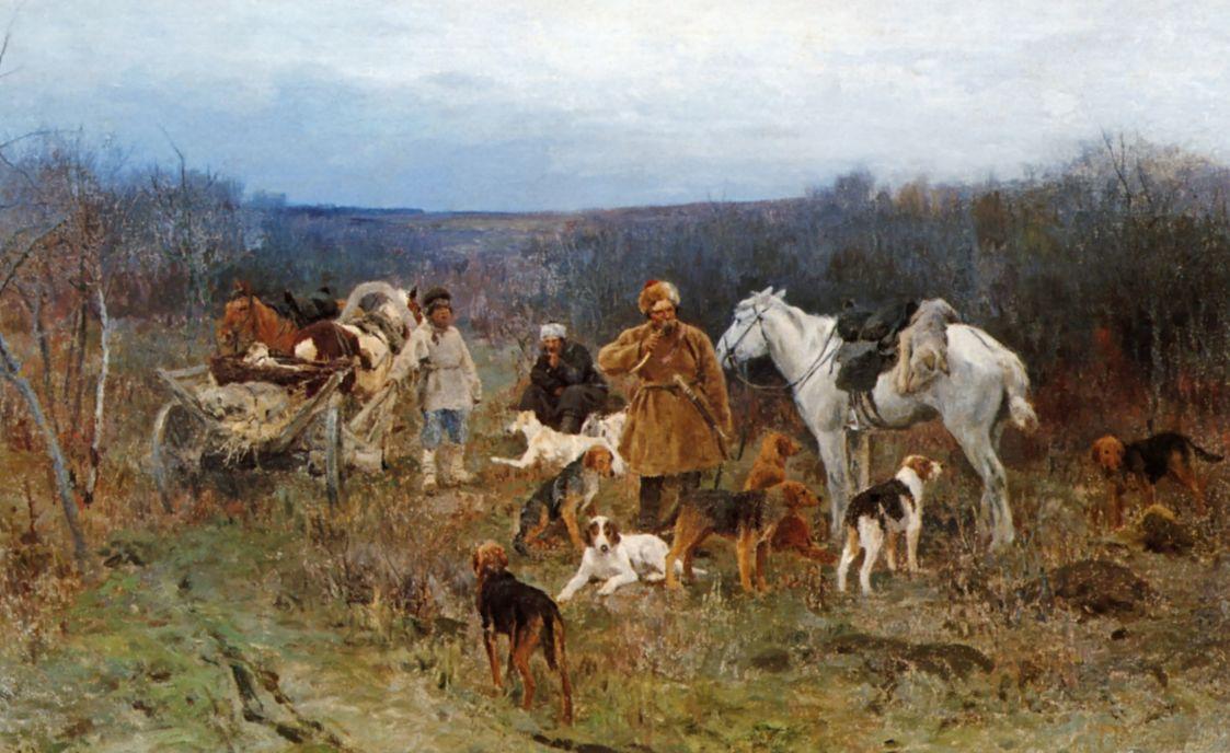 Алексей Степанович Степанов. После охоты