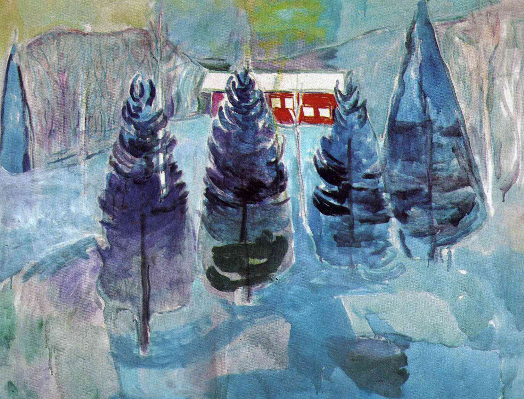 Edvard Munch. The red house and ate