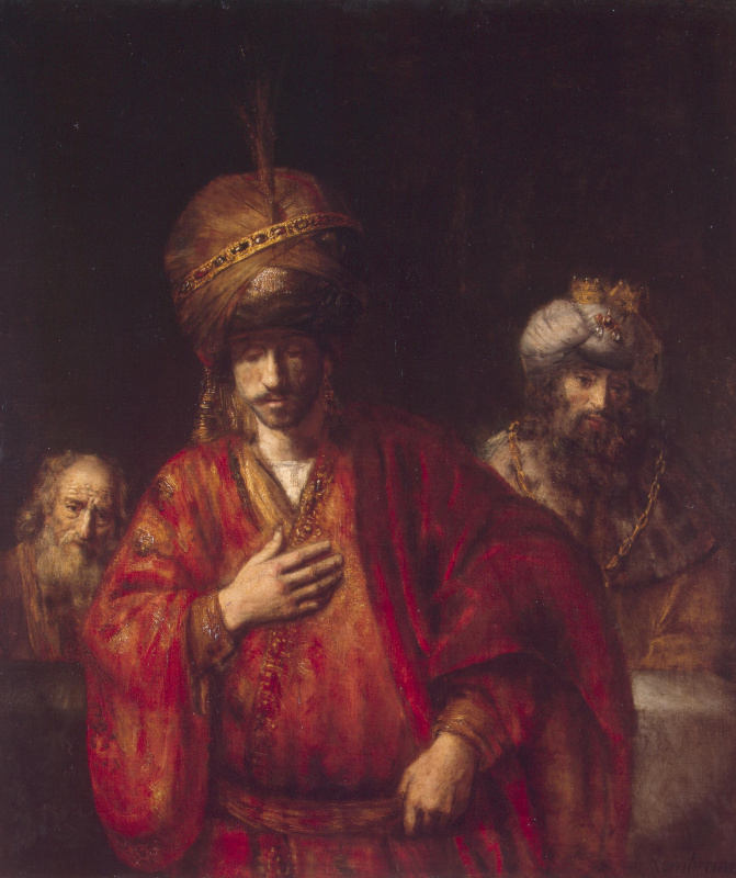 Rembrandt Harmenszoon van Rijn. Haman recognizes his fate