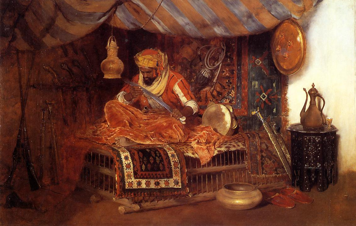 William Merritt Chase. Moorish warrior