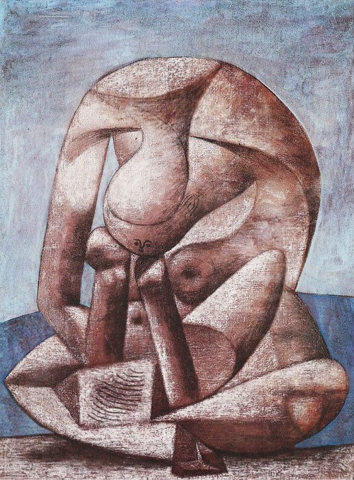 Pablo Picasso. Large bather with a book