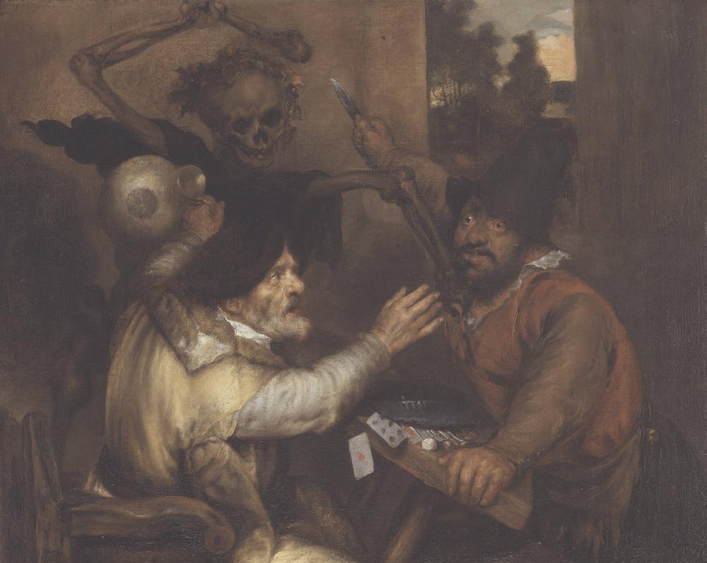 Ян Ливенс. Смерть и дерущиеся карточные игроки