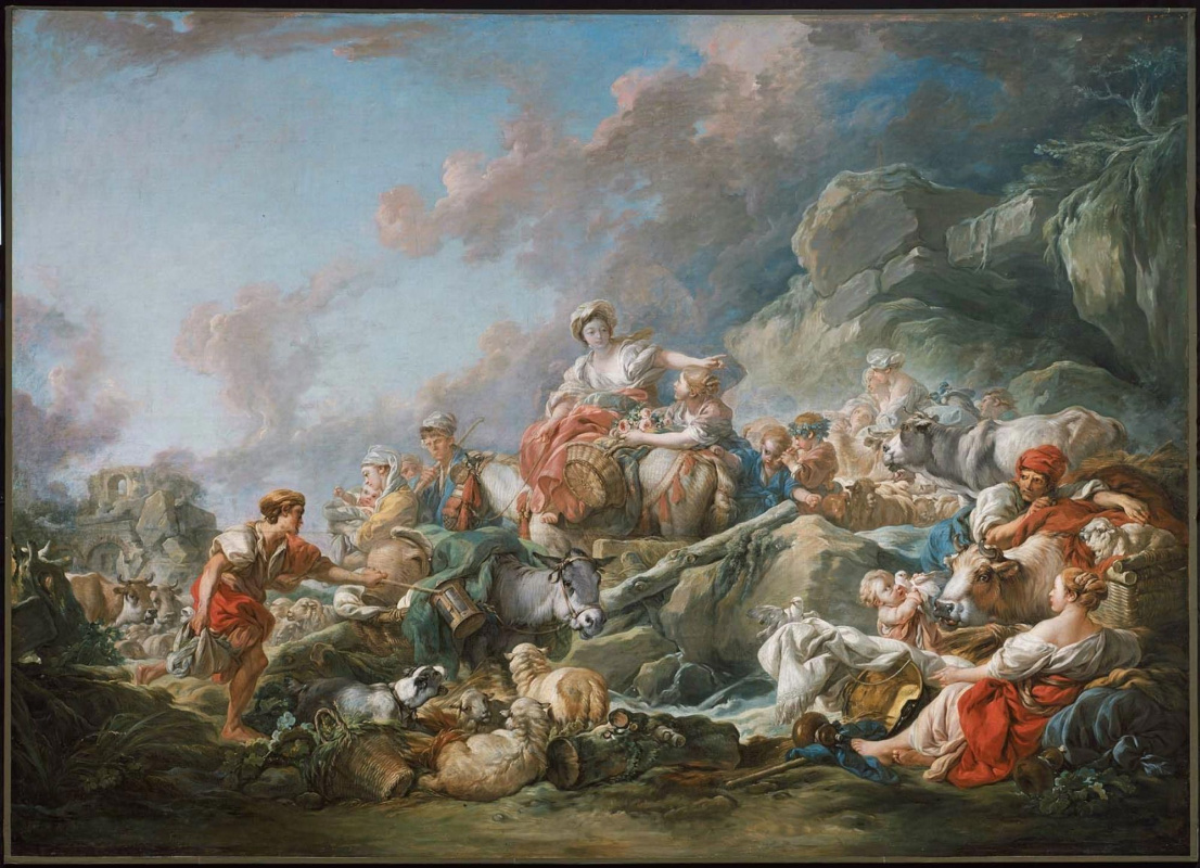 Francois Boucher. The return from the market