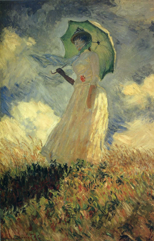 Claude Monet. Woman with a Parasol, facing left. A study