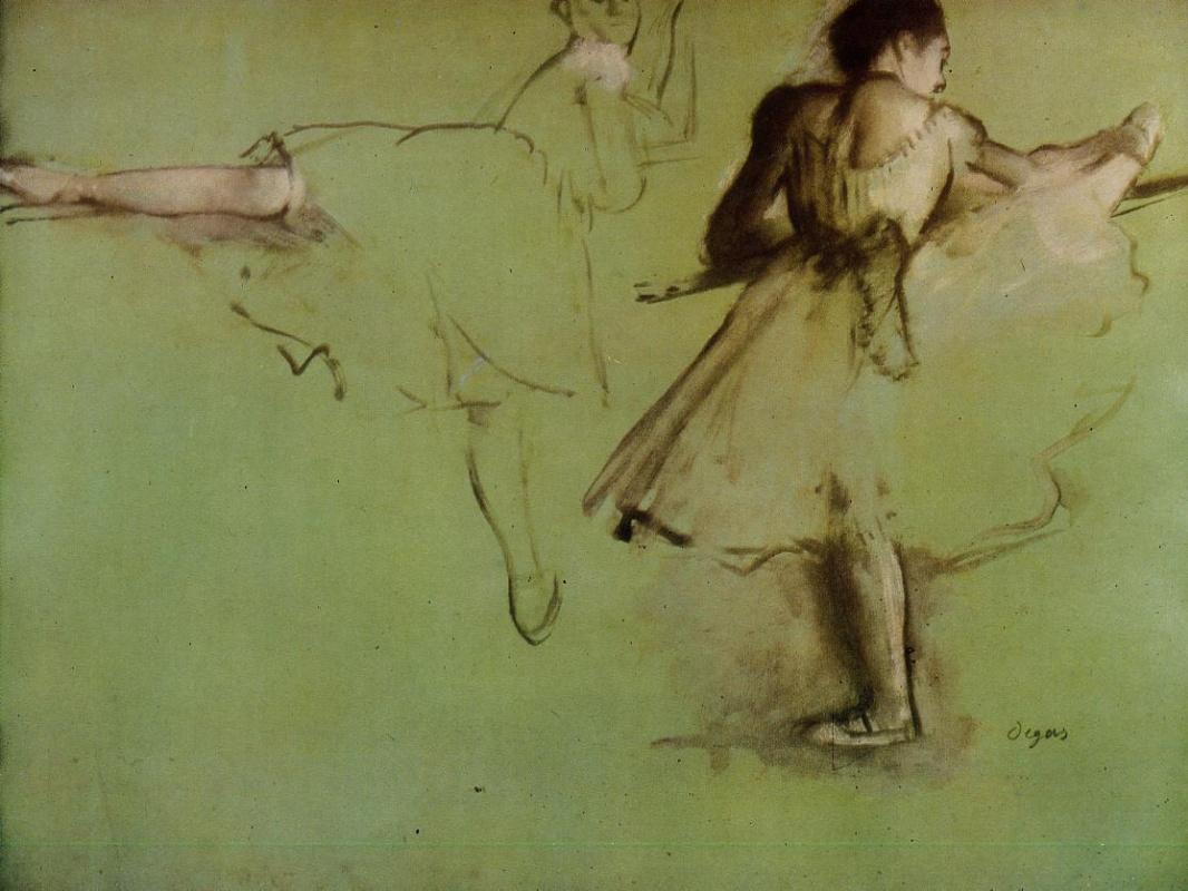 Edgar Degas. Dancers at the Barre