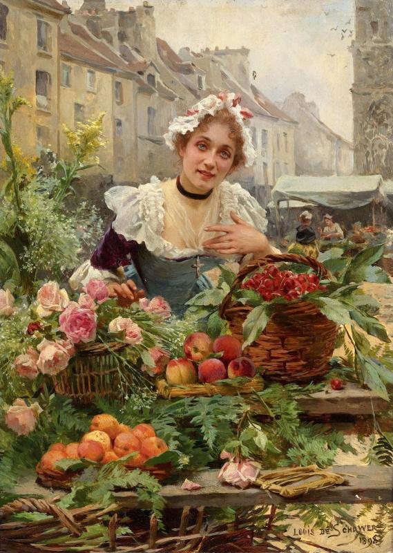 Мари Луи де Шриве. Продавщица цветов.1898