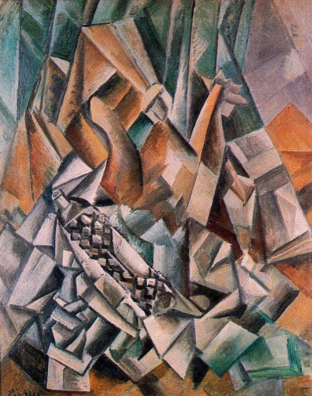 Пабло Пикассо. Натюрморт с бутылкой ликера