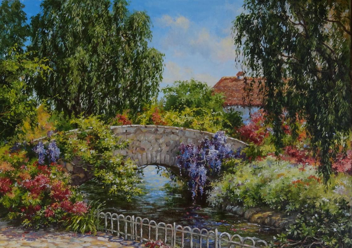 Irina Nikolaevna Borisova. Bridge in the garden.