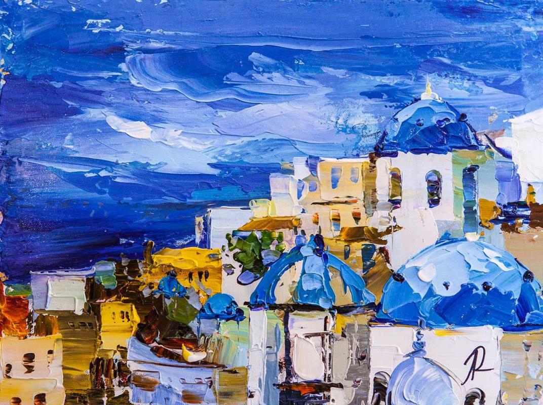 Jose Rodriguez. The white island of Santorini and the blue sea N2