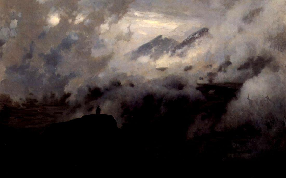 Nikolay Aleksandrovich Yaroshenko. Elbrus in the clouds