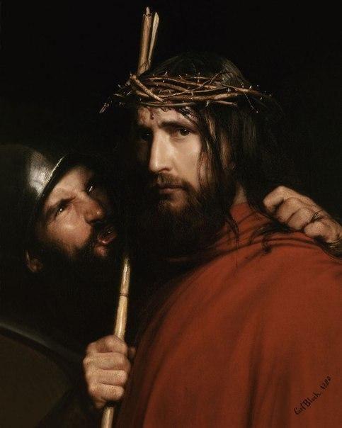 Konstantin Guts. Mocking of christ