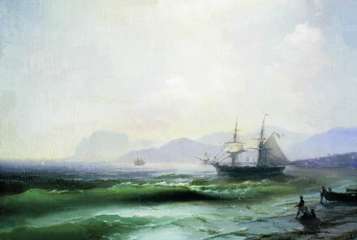 Ivan Aivazovsky. A troubled sea