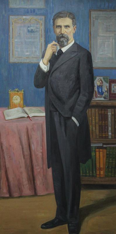 Eugene Alexandrovich Kazantsev. Portrait KA Timiryazev.