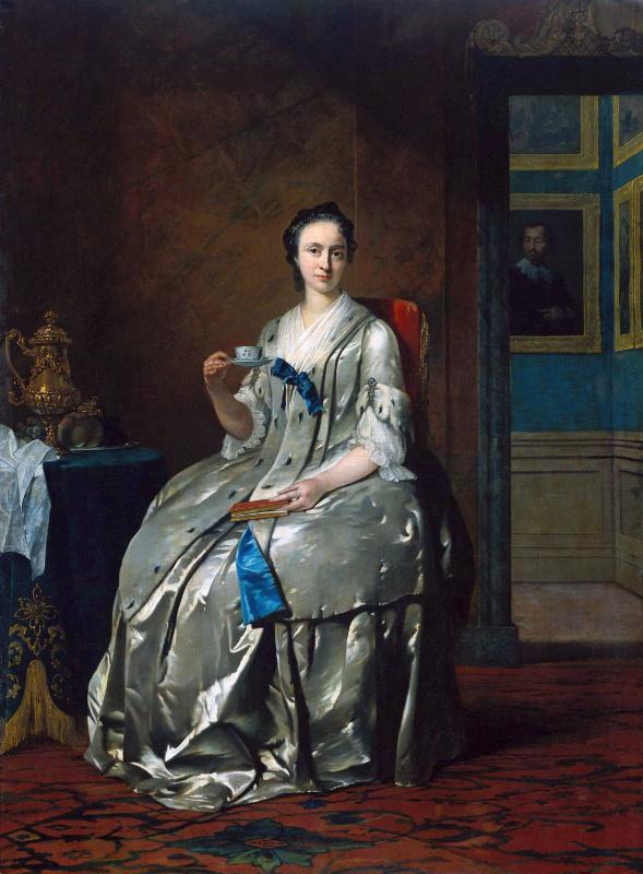Франс ван дер Миджн. Женщина с чашкой и книгой