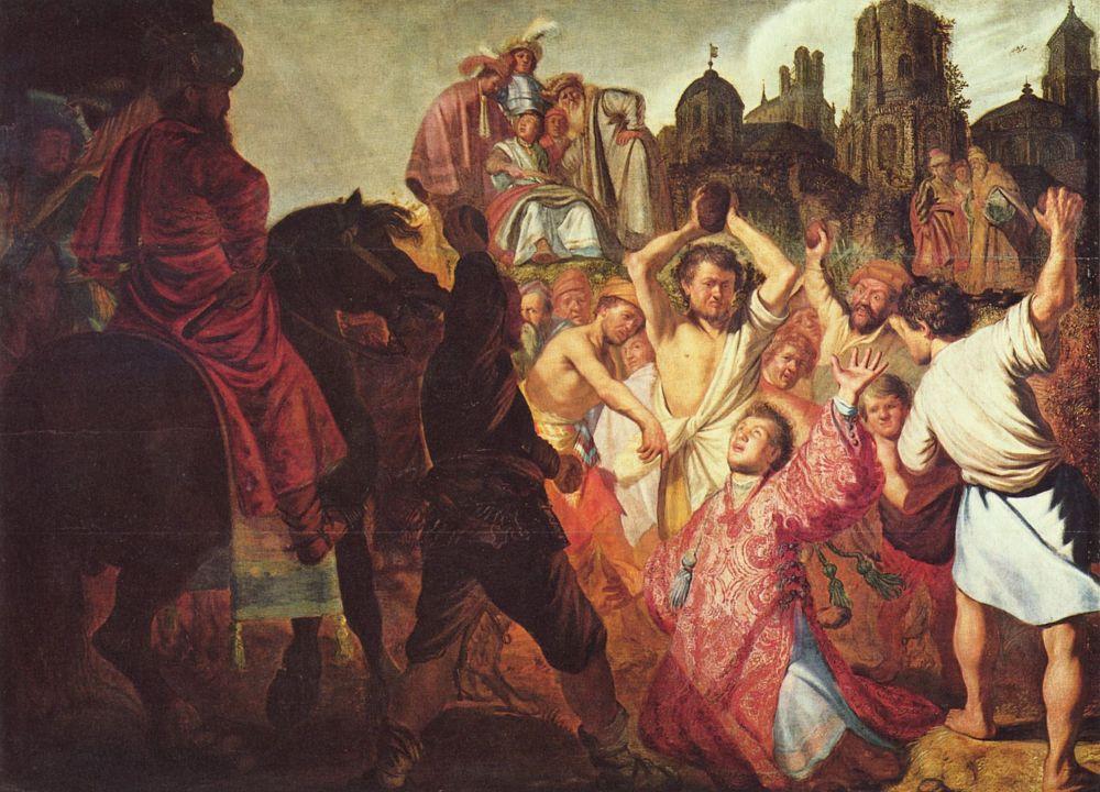 Рембрандт Харменс ван Рейн. Побиение камнями св. Стефана