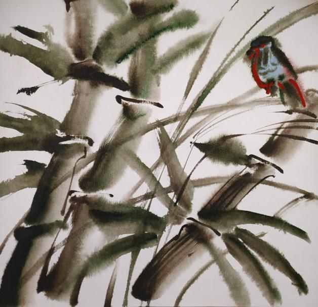 Natalia Gennadievna Torlopova. Based on oriental painting. 2