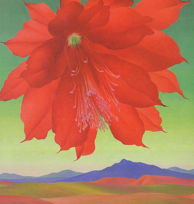 Роберт Грибброек. Красный цветок