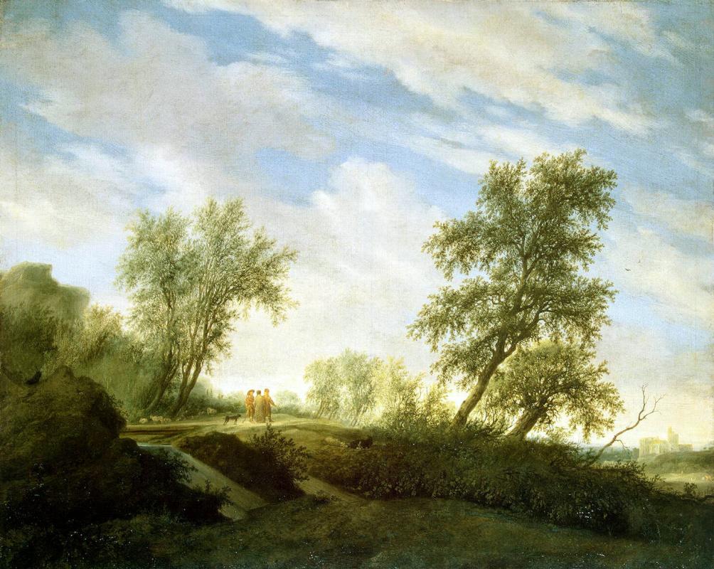 Саломон ван Рейсдал. Христос на пути в Эммаус