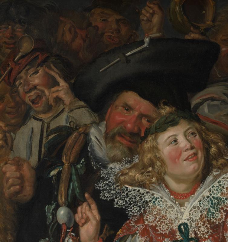 Frans Hals. Jolly Shrovetide (Merry Society). Fragment 3
