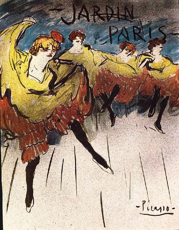 """Пабло Пикассо. Эскиз плаката """"Jardin de Paris"""""""