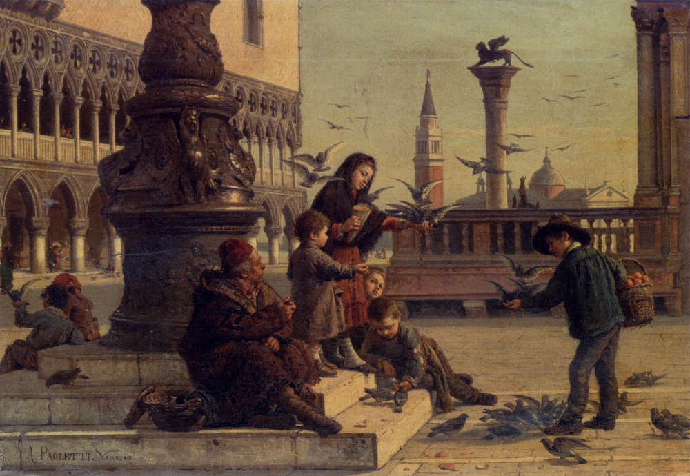 Antonio Paoletti. Children in Venice