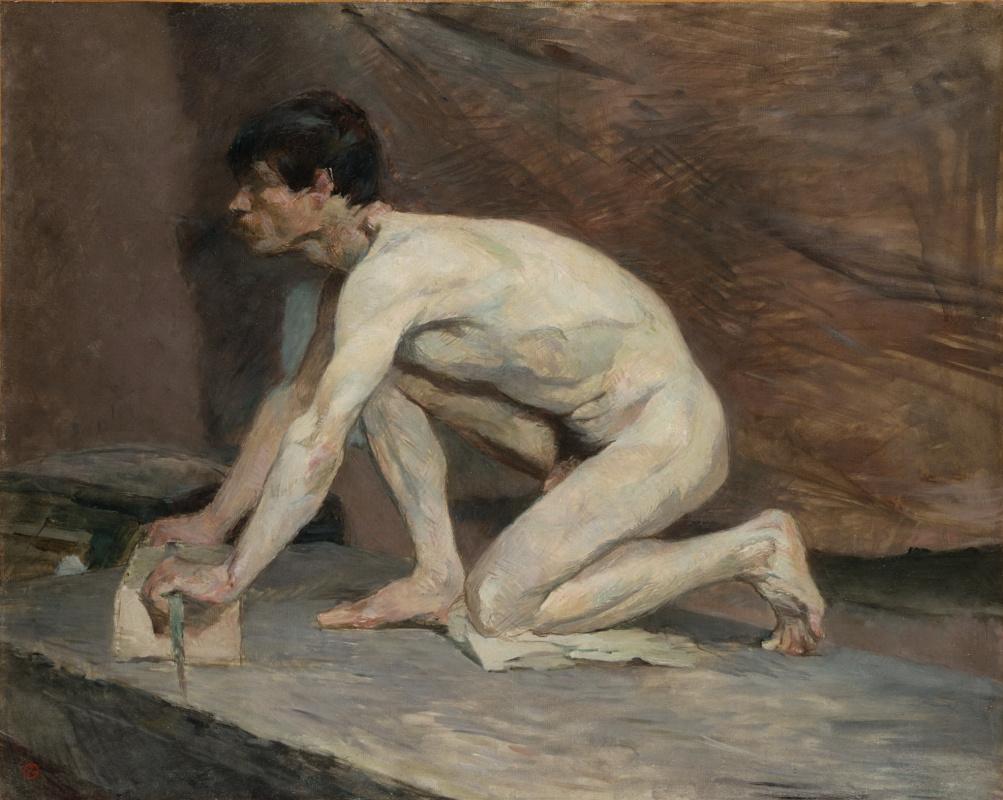 Henri de Toulouse-Lautrec. Polisher marble