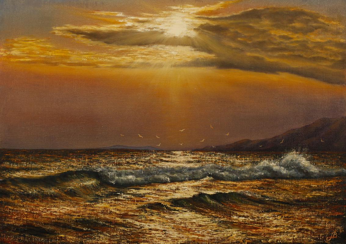 Valery Levchenko. No. 91 Sunset at sea