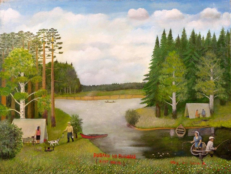 Alexander Vasilyevich Suvorov. Fishermen fishing