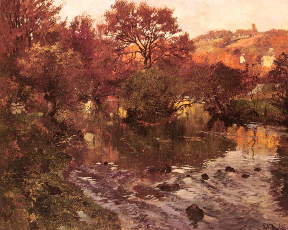 Frits Thaulow. Golden autumn Brittany