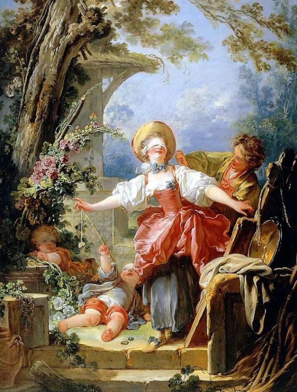 Jean-Honore Fragonard. Play hide and seek