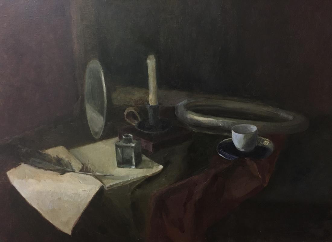 Elena Zubkova. Still life with musical instruments