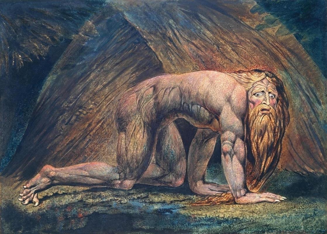 William Blake. Nebuchadnezzar