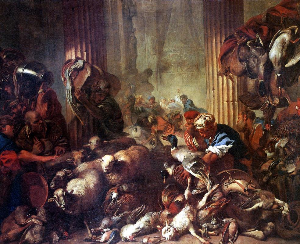 Бальдассаре Кастильоне. Изгнание торгующих из храма